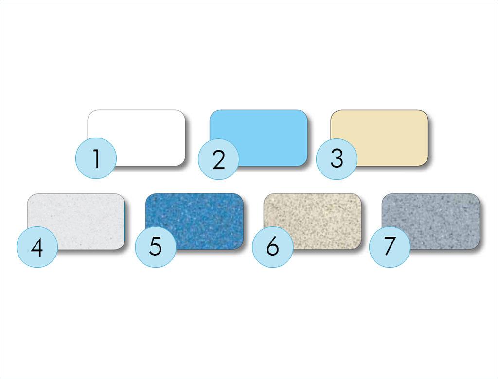 Nautilus - farebné kombinácie povrchu